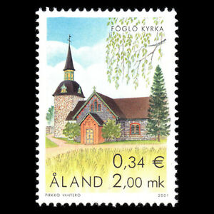 Aland 2001 - Churches Architecture - Sc 179 MNH