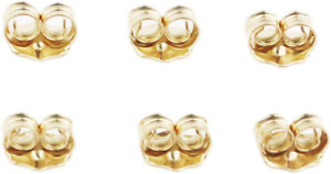 Orgrimmar 14K Gold Earring Backs Yellow Ear Locking for Stud Ear Rings 3 Pairs