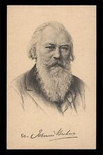 cartolina d'epoca DR. JOHANNES BRAHMS