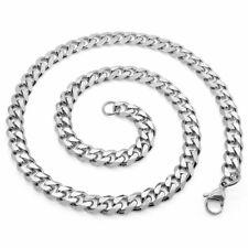 Halskette Herren Edelstahl Kette Panzerkette Königskette Armband silber schwarz
