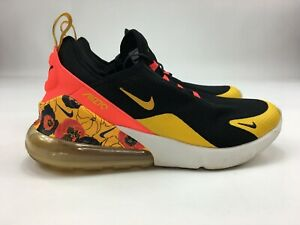 Nike Air Max 270 Womens 9.5 Floral Black Crimson Gold AR0499-005 Athletic Shoes