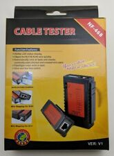 RJ45/RJ11 cable tester with 9V battery