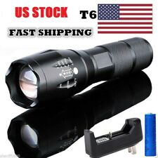 OutdoorTactical 95000LM Flashlight Powerful Zoom LED Torch 18650 Light+Charge