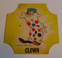 1950's NBC Bread label Disney Dumbo Clown