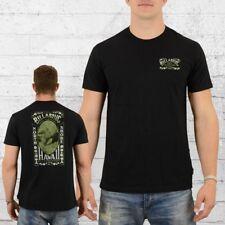 Billabong hombres t-shirt vintage masters té negro