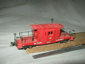 A6192 HO RARE EL PASO & WESTERN RR #46 TRANSFER CABOOSE, or reletter for your RR