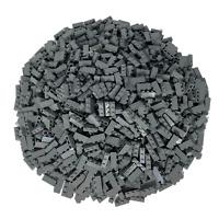 250 Lego Steine Dunkelgrau 1x3 - Hochsteine Bausteine Dark Bluish Gray - 3622