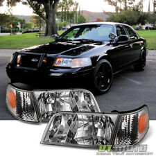 1998-2011 Ford Crown Victoria Headlights Headlamps+Corner Parking Signal Lights