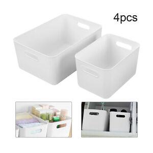 4pcs Studio Baskets Plastic Storage Organiser Office Home Bathroom Kitchen Boxes
