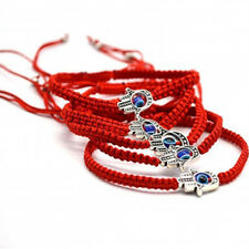 2pcs/set Braided Red Thread Rope Bracelet Evil Blue Eye Lucky Charm Jewelry Gift