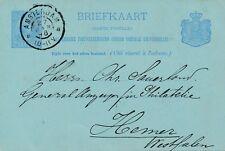 Briefkaart van Amsterdam naar Hemer, Duitsland (1896)