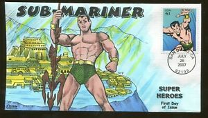 2007 San Diego California - Super Heroes - Sub-Mariner - Collins FDC