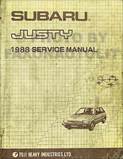 1988 Subaru Justy Shop Manual Original OEM Repair Service Book DL GL RS