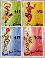 PAPUA NEUGUINEA NEW GUINEA 1986 535-38 655-58 Folk Dances Tänzer Music Musik MNH