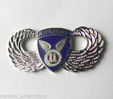 UNITED STATES ARMY 11TH AIRBORNE DIVISION WINGS LAPEL PIN BADGE 1 INCH