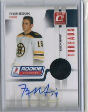 10-11 Donruss Tyler Seguin Threads RC Auto Jersey #/100 Rookie Patch Game Used