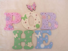 "3"" Girls Decorated Wooden Capital Letters Door/Wall sign Toy Box"