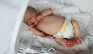Beautiful Reborn PROTOTYPE Baby Doll ~ Ruby Asleep ~ Sam's Reborn Nursery