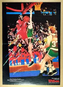 1988 Michael Jordan poster Wilson Sporting Goods vintage print Ad