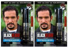 Blackbeard for Men Temporary Colour Mascara Beard Moustache Eyebrows BLACK X2