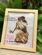 Personalized Unique Wedding Gift - Cross Stitch Gift with Frame #001