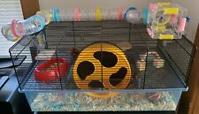 Favola Hamster Cage, Silent Runner 9 Exercise Wheel, Tunnel Tubes, Snacks + Toys