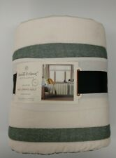 NEW Hearth & Hand with Magnolia Green Engineered Stripe Quilt (Twin)