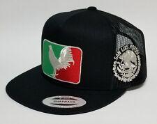 SAN LUIS POTOSI MEXICO   HAT MESH TRUCKER BLACK  SNAP BACK ADJUSTABL  NEW 2LOGOS