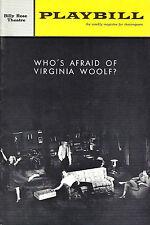 "Elaine Stritch ""WHO'S AFRAID OF VIRGINIA WOOLF?"" Edward Albee 1963 Playbill"