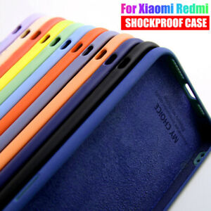 For Xiaomi Redmi Note 9 Pro 8T 8 7 Pro 7A Poco M3 Liquid Silicone TPU Case Cover