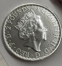 2016 1oz. Silver UK Britannia Lunar Privy Monkey on edge Impossible to find .999