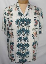 Hawaiian Reserve Collection Mens Cruise Ships Palm Tree Button Shirt Men Size L