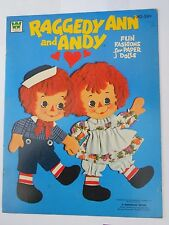 Vintage .Raggedy Ann And Andy. Uncut Paper Dolls & Clothes