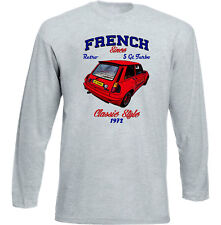 VINTAGE FRENCH CAR RENAULT 5 GT TURBO 1 - NEW COTTON T-SHIRT