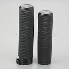 "2x 1"" Motorcycle Handlebar Aluminum Rubber Hand Grips Fit For 883 1200X 48 Black"