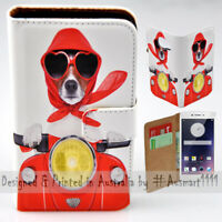 For OPPO Series - Dog Ride Scooter Print Wallet Mobile Phone Case Cover