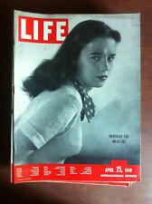 Life international Vol. 6 n° 9 April 25, 1949 Cover Madeline Balcar - E18414