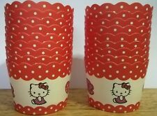 18pcs Hello Kitty Stand Alone Cupcake Liner Baking Paper Cups Candy Holder