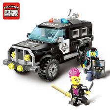 NEW ENLIGHTEN CITY Police SWAT SUV Car Chase Explosion Blocks Minifigures Toys