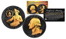BLACK RUTHENIUM 1976 S Washington Bicentennial Quarter BU 40% SILVER w/ 24K Gold