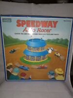 Schylling Speedway Auto Racer Tin Wind-Up Tilting Race Track  with box