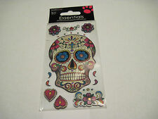 Scrapbooking Crafts Stickers Sandylion Skull Colorful Flowers Bling Hearts More
