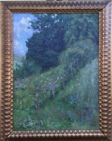 Impressionist Richard Eschke 1859 - 1944 Blooming Summer Meadow Field Edge
