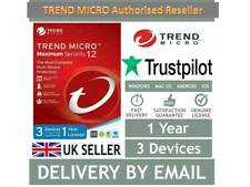 🔴 Trend Micro Maximum Security Ver.16/ 2020(3 Devices- 1Year) 10 MINS DELIVER🔴