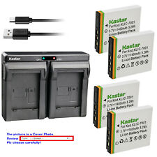 Kastar Battery Dual Charger for Kodak KLIC-7001 & Kodak EasyShare V705 Camera