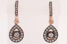Turkish Jewelry Drop Diamond Style Topaz Zircon 925 Sterling Silver Earrings