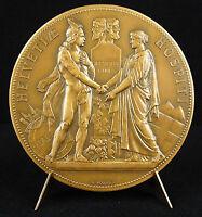 Medal Allegories of France & de La Switzerland Schweiz Switzerland Borrel Medal