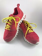 "WOMEN S SIZE 7 PINK WITH YELLOW TRIM REEBOK ""REALFLEX"" SNEAKERS OR TENNIS  SHOES cd0ad644b50b8"