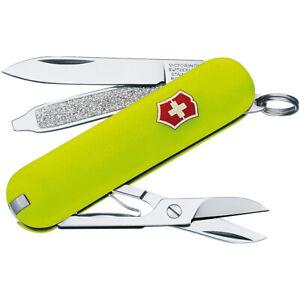 Victorinox Swiss Army StayGlow Classic SD Pocket Knife - Fluorescent Yellow