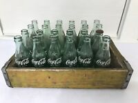 Vintage Coca Cola 24 Bottles Crate Complete 6 1/2 Oz Wood Case States Coke Old